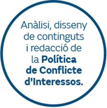 Anàlisi, disseny de continguts i redacció de la Política de Conflicte d'Interessos
