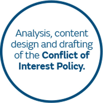 Analysis, content design and drafting of the Conflict of Interest Policy.